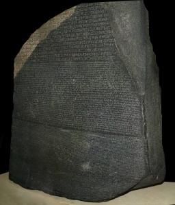 Image credit: Hans Hillewaert (http://en.wikipedia.org/wiki/Rosetta_Stone#mediaviewer/File:Rosetta_Stone.JPG)