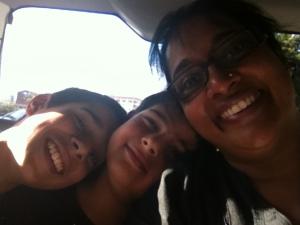 The boys and me ©Asha Rajan