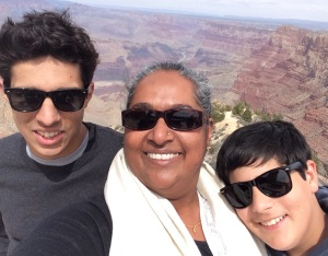 Asha and her teenaged sons